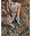 Falda midi plisada - Luciana