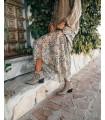 Vestido estampado largo - Cayetana